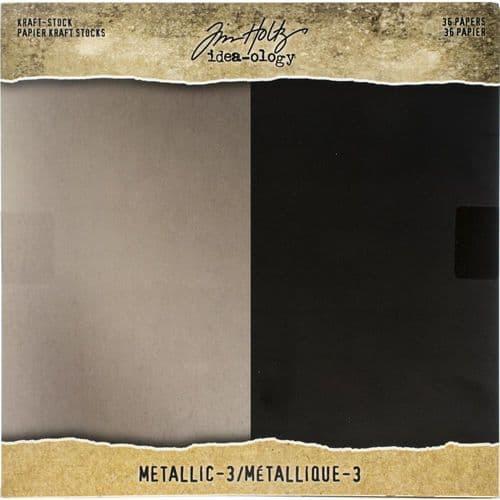 *Tim Holtz - Paper Stash Kraft Metallic #3