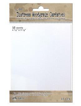 "*Tim Holtz - Surfaces - Woodgrain Cardstock 4.1/4 x 5.1/2"""