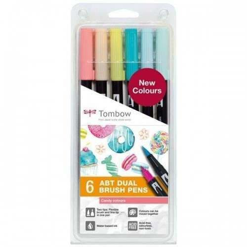 *Tombow - ABT Dual Brush Pen - 6 Set  Candy Colours