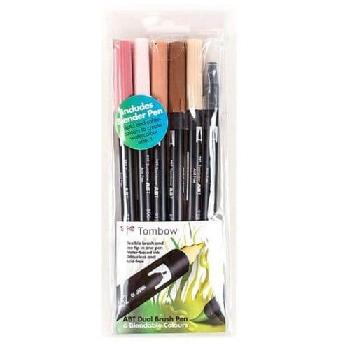 *Tombow - ABT Dual Brush Pen - 6 Set - Skin Tones