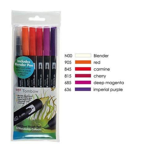 *Tombow - ABT Dual Brush Pen - 6 Set - Sunset