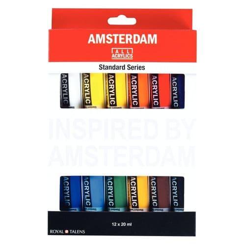 Amsterdam - 20ml Acrylic Paints - 12 Set