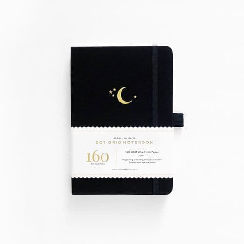 Archer & Olive - A5 Signature Dot Grid Notebook - Crescent Moon