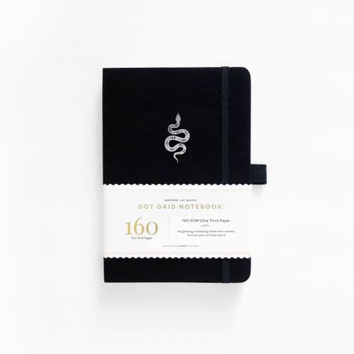 Archer & Olive - A5 Signature Dot Grid Notebook - Garden Slither