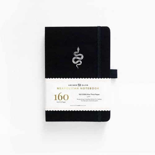 Archer & Olive - A5 Signature Dot Grid Notebook - Neapolitan - Garden Slither