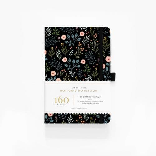 Archer & Olive - A5 Signature Dot Grid Notebook - Night Garden