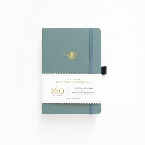 Archer & Olive - A5 Signature Dot Grid Notebook - Vintage Bee