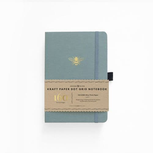 Archer & Olive - B5 Signature  Dot Grid Kraft Notebook - Vintage Bee