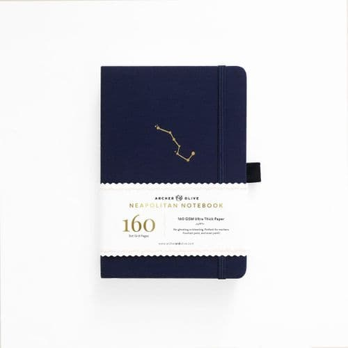 Archer & Olive - B5 Signature  Dot Grid Neapolitan Notebook - Night Sky