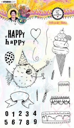Art By Marlene - Marlene's World Collection - Clear Stamp #67
