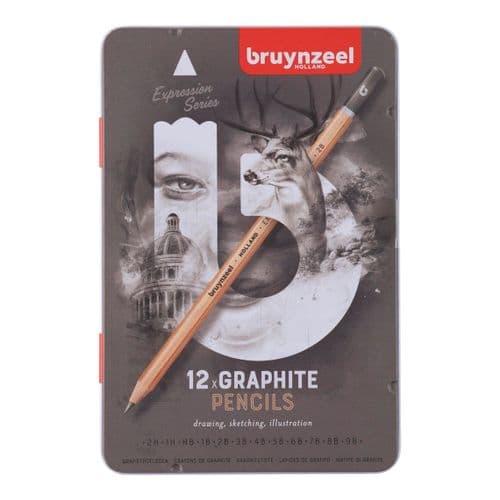 Bruynzeel - Expression Graphite Pencils - 12pk