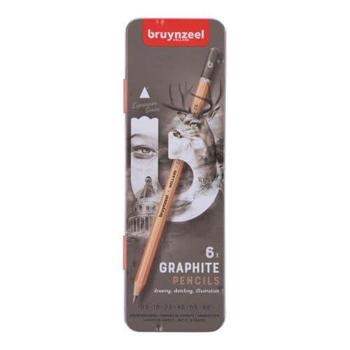 Bruynzeel - Expression Graphite Pencils - 6pk