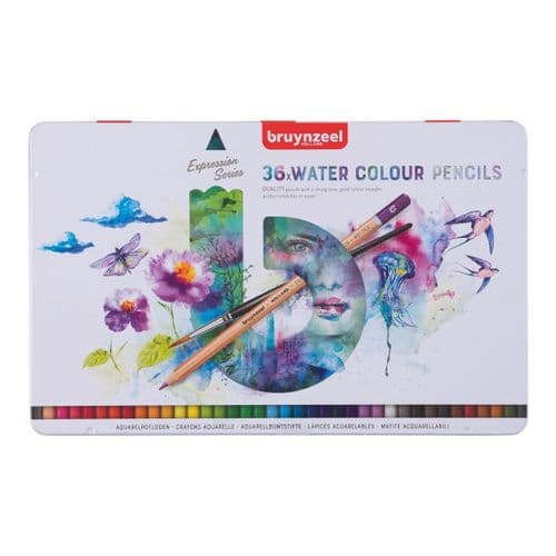 Bruynzeel - Expression Water Colour Pencils - 36pk