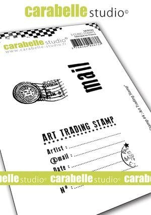 Carabelle Studio - Cling Stamp A7 - My Stamp #4 : Art Trading Stamp