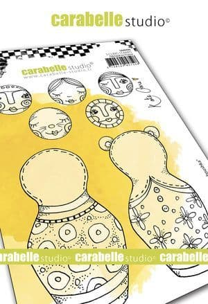 Carabelle Studio - Rubber Stamps - A6 - Build a Baboushka by Kate Crane