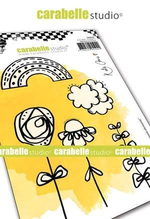 Carabelle Studio - Rubber Stamps - A6 - Crayoned Elements by Kate Crane