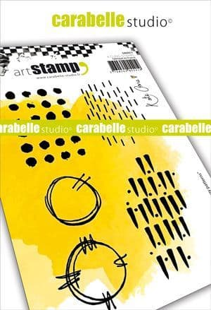 Carabelle Studio - Rubber Stamps - A6 - Grungy patterns by Kate Crane