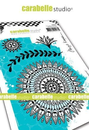 Carabelle Studio - Rubber Stamps - A6 - Indian inspired #3 by B. Koopsen