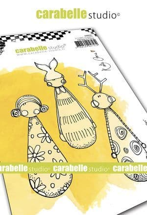 Carabelle Studio - Rubber Stamps - A6 - Little Skittles by Kate Crane
