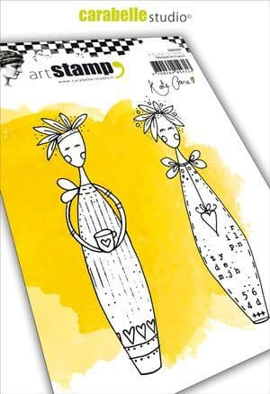 Carabelle Studio - Rubber Stamps - A6 - Lolly Dolly by Kate Crane