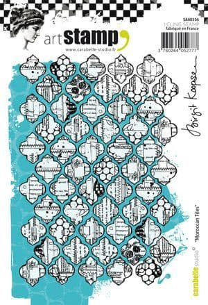 Carabelle Studio - Rubber Stamps - A6 - Moroccan Tiles by Birgit