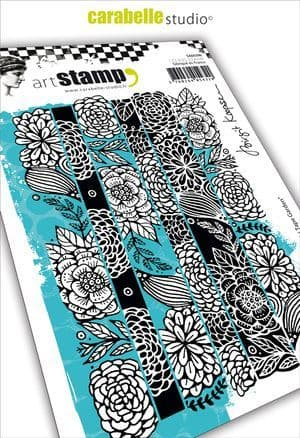 Carabelle Studio - Rubber Stamps - A6 - Washi tape garden collage by B. Koopsen