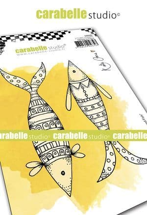 Carabelle Studio - Rubber Stamps - A6 - Well Dressed Fish by Kate Crane