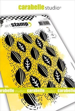 Carabelle Studio - Rubber Stamps - A6 - Wonky leaf line by Kate Crane