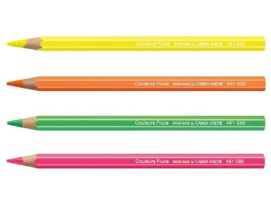 Caren d'Ache - Fluo Line Fluorescent Pencils