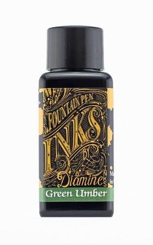 Diamine - Fountain Pen Ink - 30ml - Green Umber