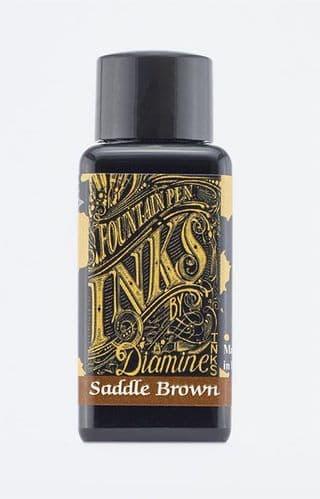 Diamine - Fountain Pen Ink - 30ml - Saddle Brown