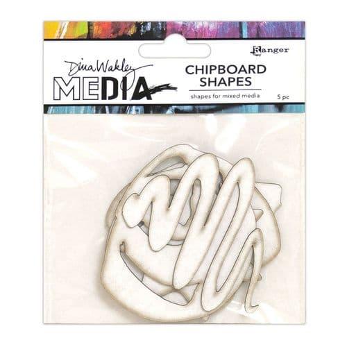Dina Wakley - Chipboard Shapes Basics