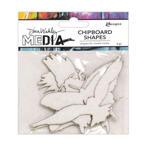 Dina Wakley - Chipboard Shapes - Flying