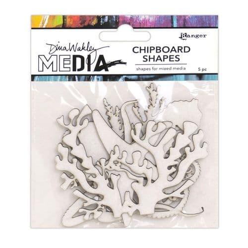 Dina Wakley - Chipboard Shapes - Ocean