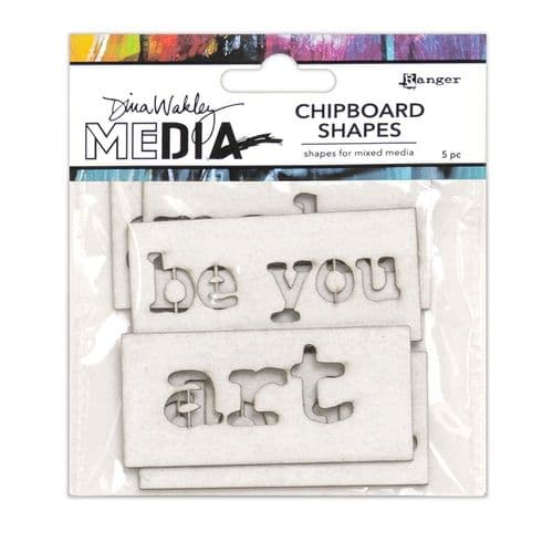 Dina Wakley - Chipboard Shapes - Words