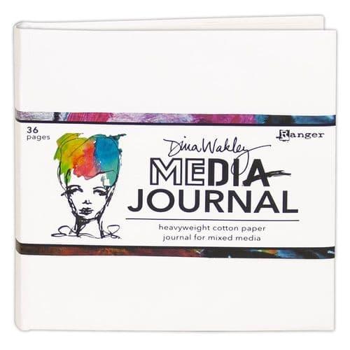 "Dina Wakley Media - 6x6"" White Journal"