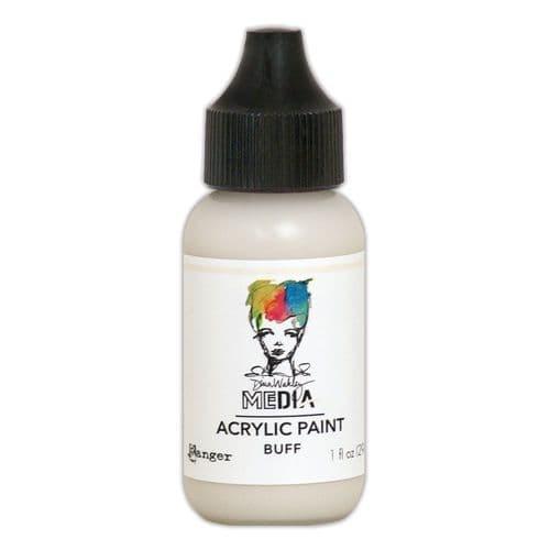 Dina Wakley Media - Acrylic Paints - 1oz Bottle - Buff