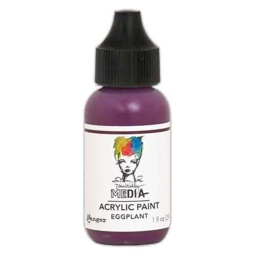 Dina Wakley Media - Acrylic Paints - 1oz Bottle - Eggplant