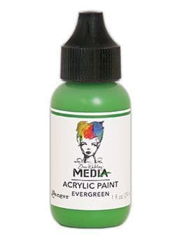Dina Wakley Media - Acrylic Paints - 1oz Bottle - Evergreen