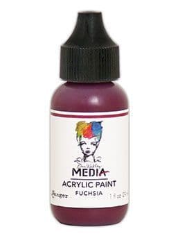 Dina Wakley Media - Acrylic Paints - 1oz Bottle - Fuchsia