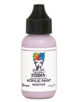 Dina Wakley Media - Acrylic Paints - 1oz Bottle - Heather
