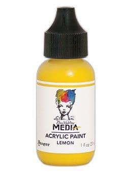 Dina Wakley Media - Acrylic Paints - 1oz Bottle - Lemon