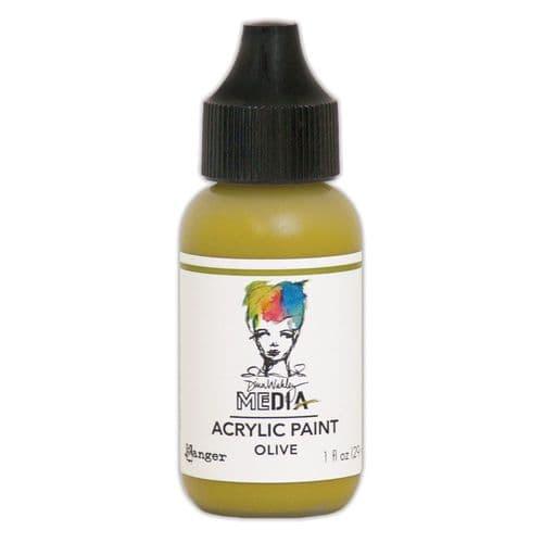 Dina Wakley Media - Acrylic Paints - 1oz Bottle - Olive