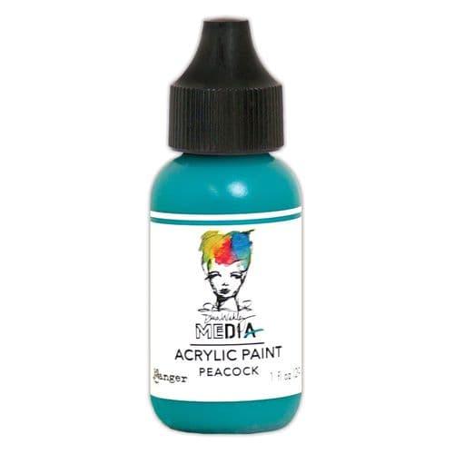 Dina Wakley Media - Acrylic Paints - 1oz Bottle - Peacock