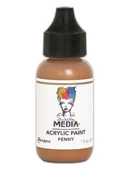 Dina Wakley Media - Acrylic Paints - 1oz Bottle - Penny