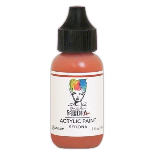 Dina Wakley Media - Acrylic Paints - 1oz Bottle - Sedona