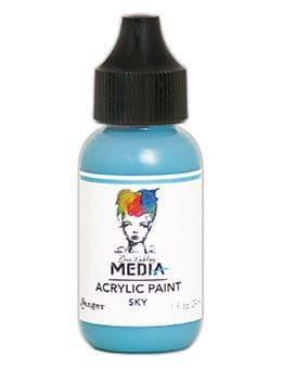 Dina Wakley Media - Acrylic Paints - 1oz Bottle - Sky