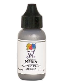 Dina Wakley Media - Acrylic Paints - 1oz Bottle - Sterling