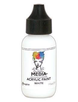 Dina Wakley Media - Acrylic Paints - 1oz Bottle - White