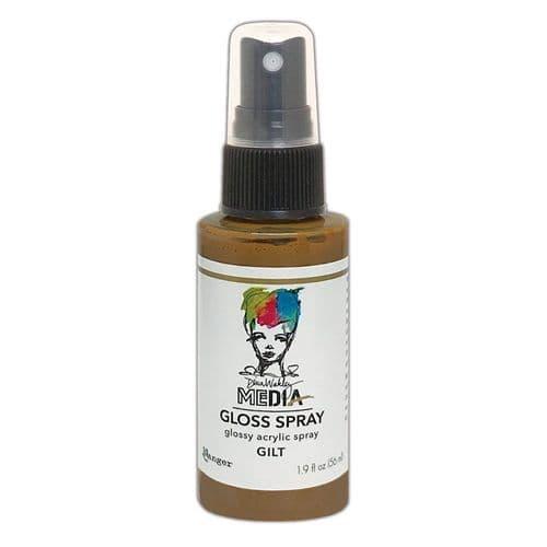 Dina Wakley - MEdia Gloss Spray - Gilt